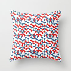 geometric number 5 Throw Pillow