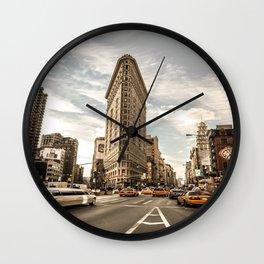 FlatIron - Midday Rush Wall Clock