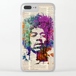 JIMI HENDRIX on dictionary page Clear iPhone Case