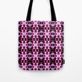 Purple White Flower Pattern Tote Bag