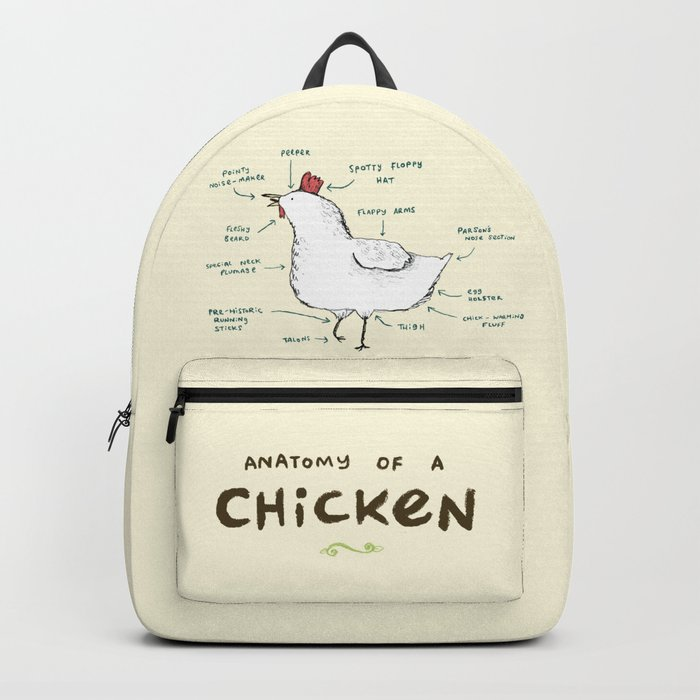 Anatomy Of A Chicken Backpack By Sophiecorrigan Society6