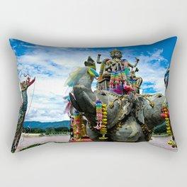 Thailand Temple Rectangular Pillow
