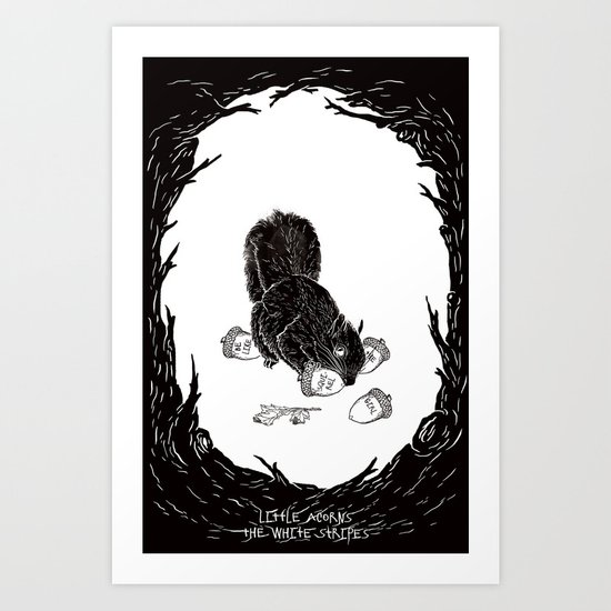 Little Acorns - The White Stripes Art Print