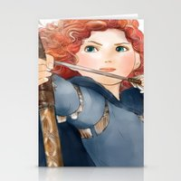 merida Stationery Cards featuring Merida  by Teddy Wade