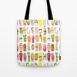 Sushi Watercolor-- Nigiri Sushi Tote Bag