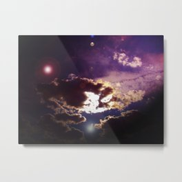 Dark Purple Cloudy Sky Metal Print