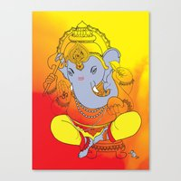 ganesh Canvas Prints featuring Ganesh  by xDiNKix