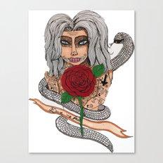 Zombie girl. Canvas Print
