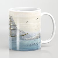 ship Mugs featuring Ship by Azot