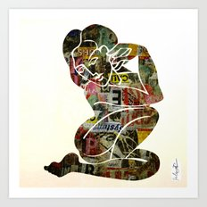 Graffiti Girl Modern Abstract Fine Art Nude Painting Pop ART Art Print
