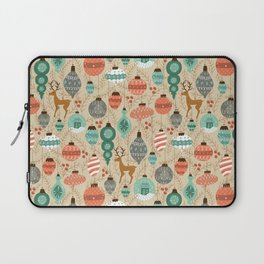 Holiday Ornaments in Aqua + Coral Laptop Sleeve