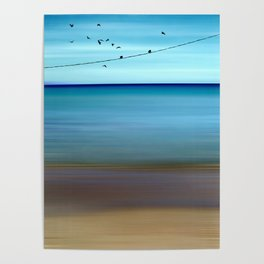 Cretan Sea & Birds II Poster