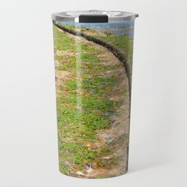 Old Tracks By The Ocean Travel Mug