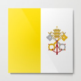 Flag Of Vatican City Metal Print