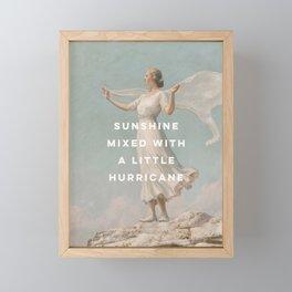 Sunshine Mixed With a Little Hurricane, Feminist Framed Mini Art Print
