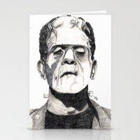 frankenstein Stationery Cards featuring Frankenstein by Jay Decastro
