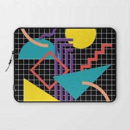 Memphis Pattern - 80s Retro Black Laptop Sleeve