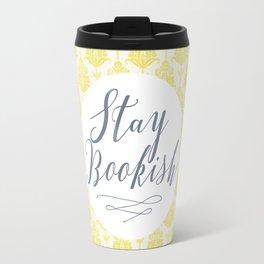Stay Bookish vintage yellow background Travel Mug
