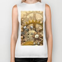 steampunk Biker Tanks featuring steampunk by Ancello