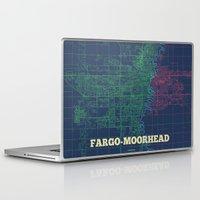 fargo Laptop & iPad Skins featuring Fargo-Moorhead Street Map by Rafael's CartoPosters
