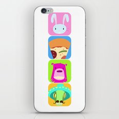 Floating BunnyHead Pop Square iPhone & iPod Skin