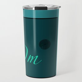 Om Blue Travel Mug