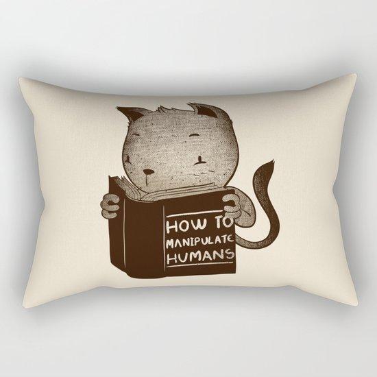 Cat Book How To Manipulate Humans Rectangular Pillow