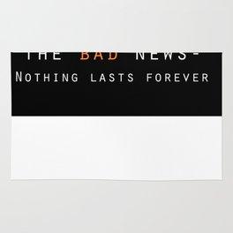 Good News, Bad News Rug