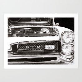 Pontiac GTO 1967  Art Print