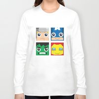 superheros Long Sleeve T-shirts featuring Earth Defenders by Jconner