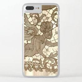 Lace Angel Clear iPhone Case