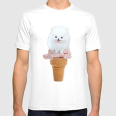 Two scoops MEDIUM White Mens Fitted Tee
