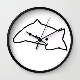 Bongo Cat Meme Wall Clock