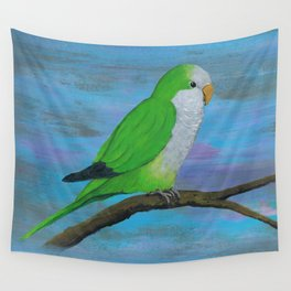Cuddly quaker parrot Wall Tapestry