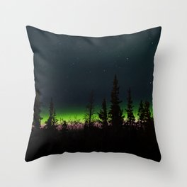 Auroras II Throw Pillow