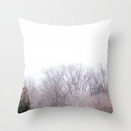 Winter Tree Tops Throw Pillow