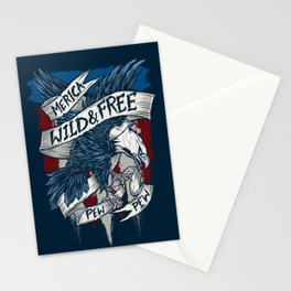 Merica Pew-Pew Stationery Cards