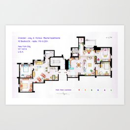 FRIENDS Apartments Floorplan Art Print