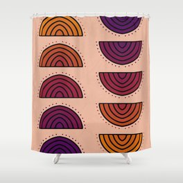 Flowers of Sunset Shower Curtain