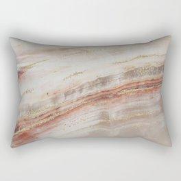 Brown Marbel with Gold Rectangular Pillow