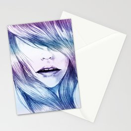 Winter Blur Stationery Cards