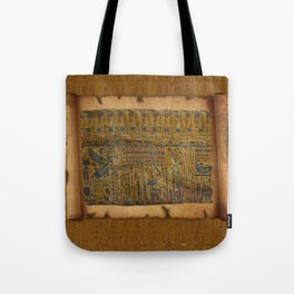 Ancient Egyptian Funerary Scroll pre 944 BC Tote Bag