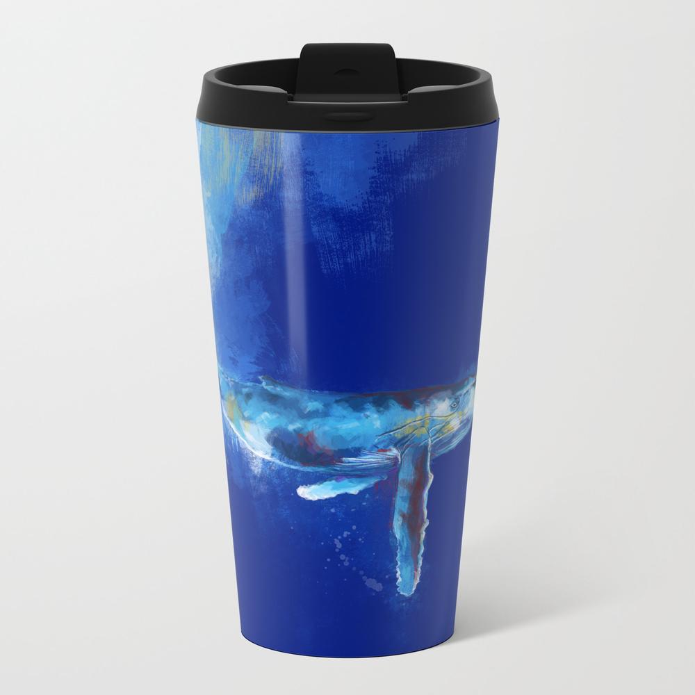 Deep Blue Whale Metal Travel Mug by Floartstudio MTM6628800