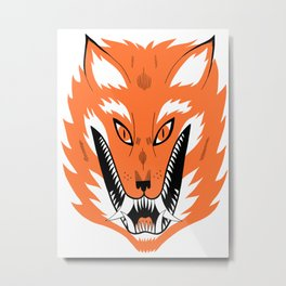 Cursed Fox Metal Print