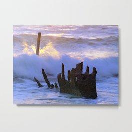 Fiery Sea Metal Print