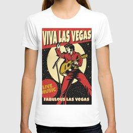 Elvis -Retro Las Vegas Poster T-shirt