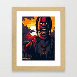 Back in La Flame Framed Art Print