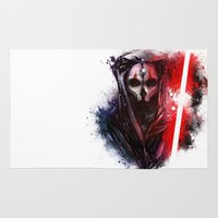 darth Area & Throw Rugs featuring Darth Nihilus by Vincent Vernacatola