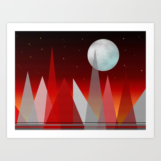 Under The Night Sky Art Print