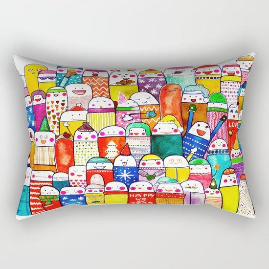 Snow People Rectangular Pillow